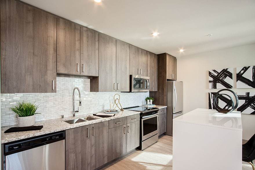 Kitchen at Broadstone Saxton Apartment