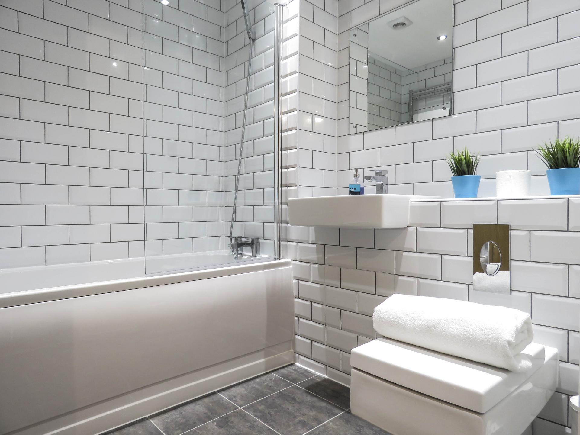 Bathroom at Canal Side Serviced Apartments
