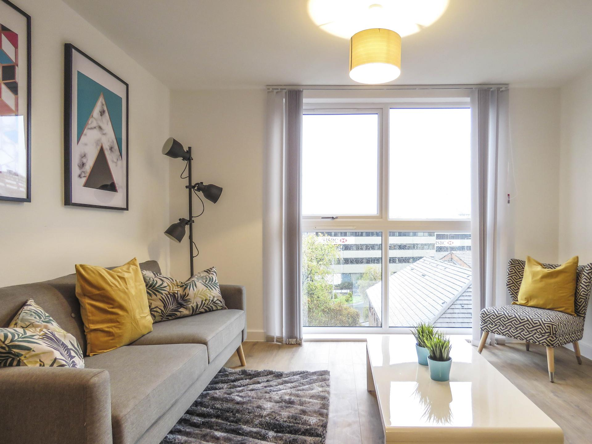Lounge at Canal Side Serviced Apartments