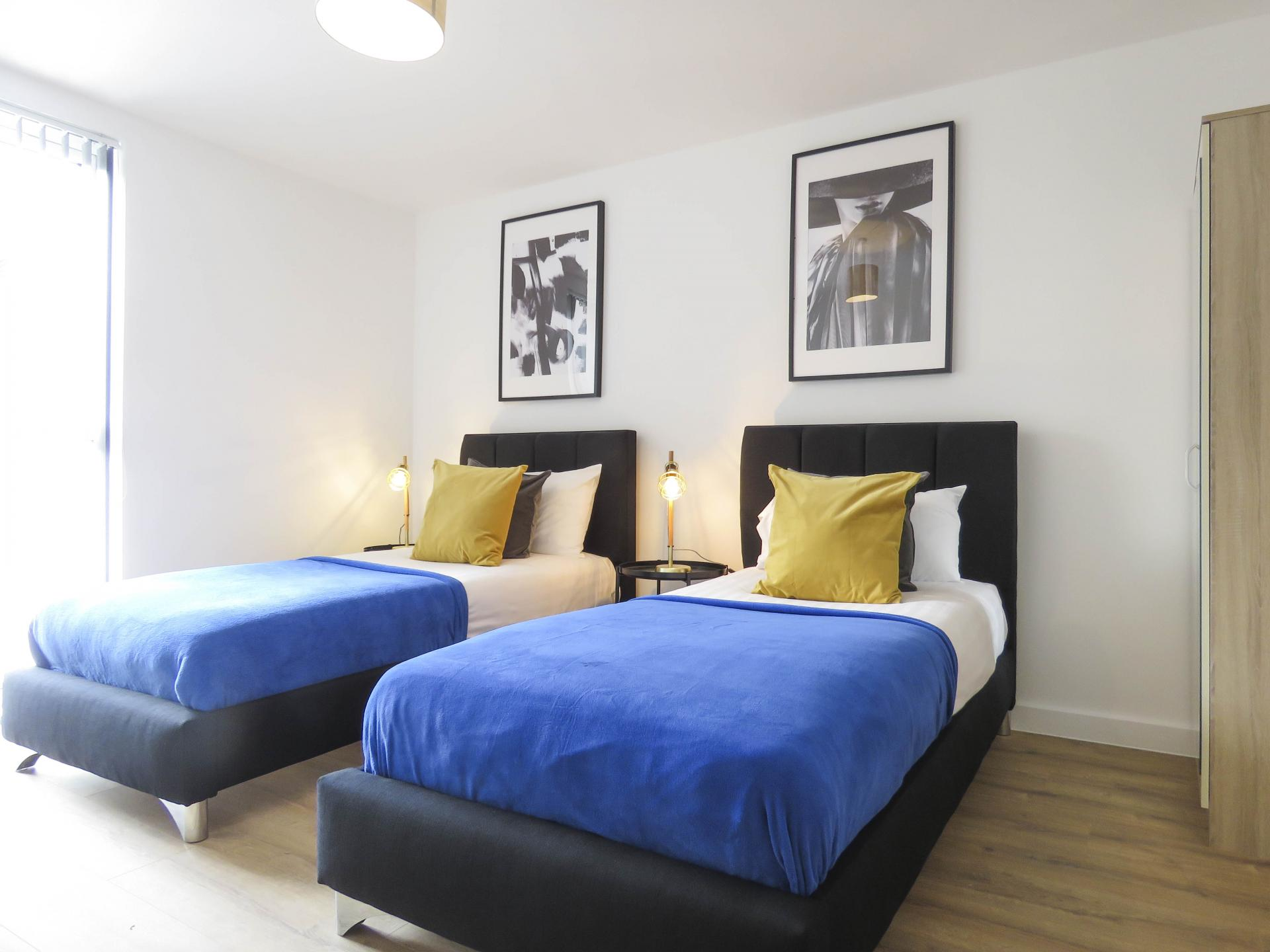 Twin beds at Canal Side Serviced Apartments