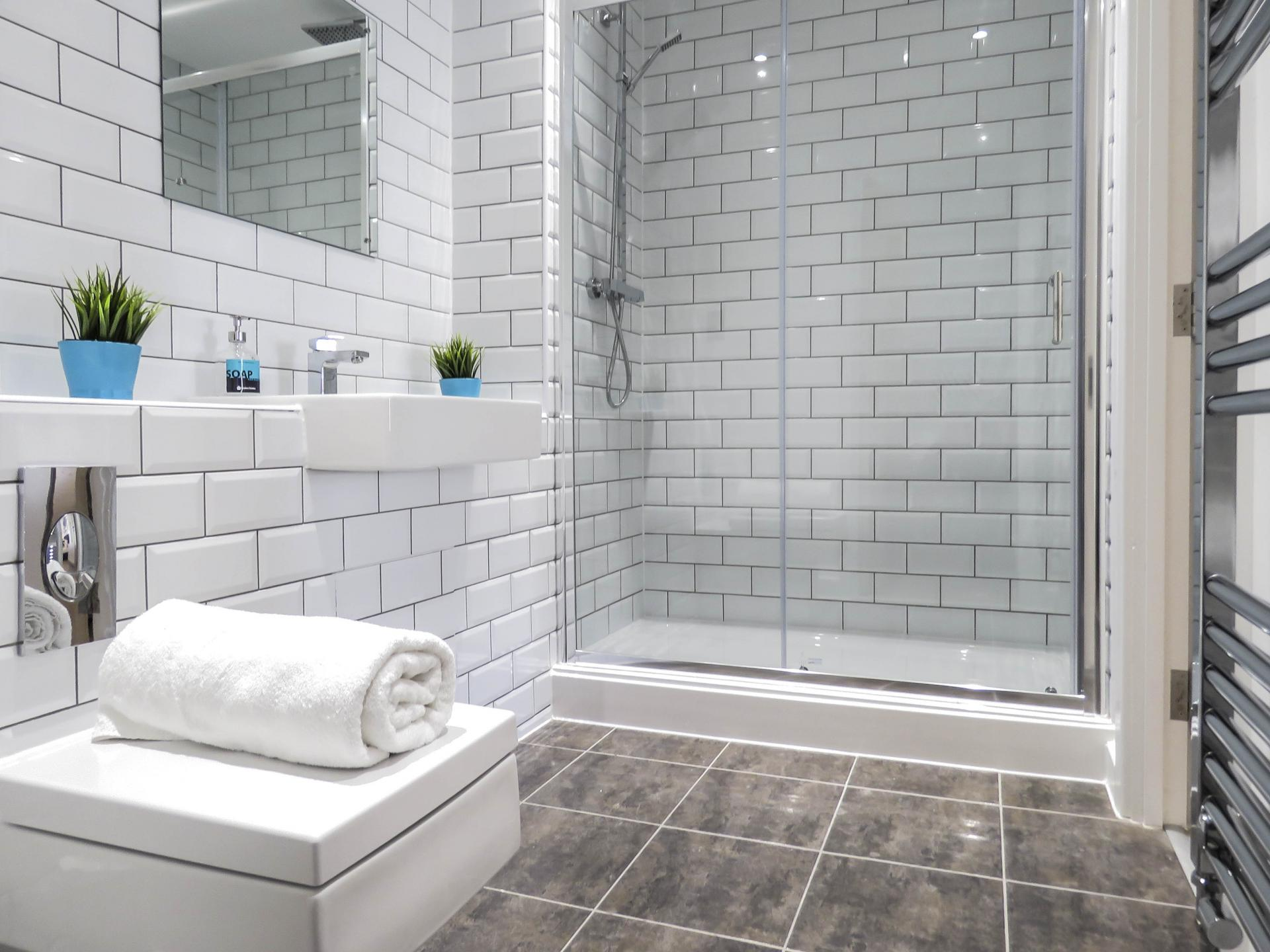 Shower at Canal Side Serviced Apartments