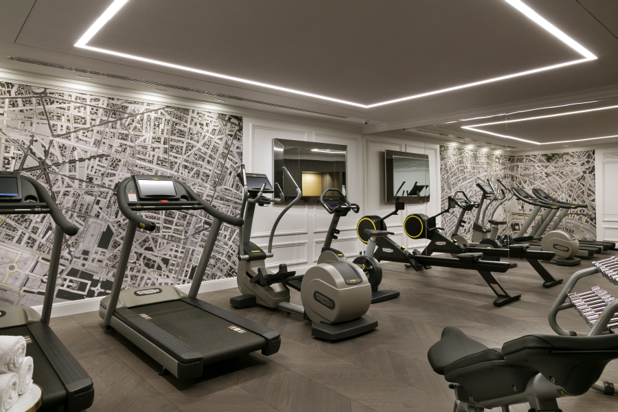 Fitness room at La Clef Champs-Elysées Apartments, Chaillot, Paris