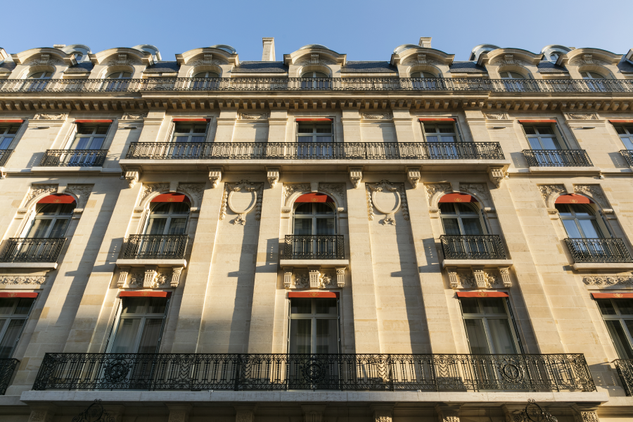 Facade at La Clef Champs-Elysées Apartments, Chaillot, Paris