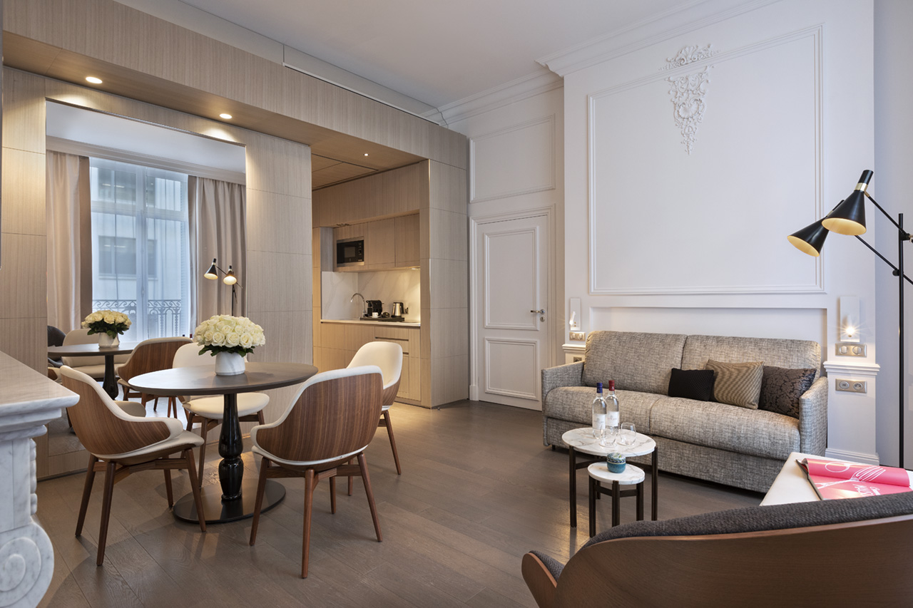 Layout at La Clef Champs-Elysées Apartments, Chaillot, Paris