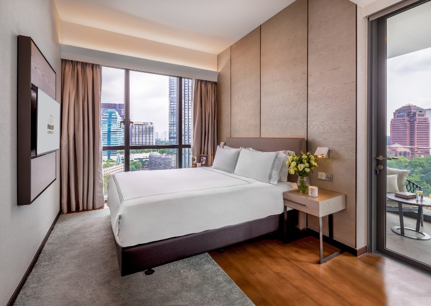 Bright bedroom at Fraser Residence Orchard Apartments, Singapore
