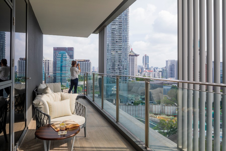 Balcony at Fraser Residence Orchard Apartments, Singapore