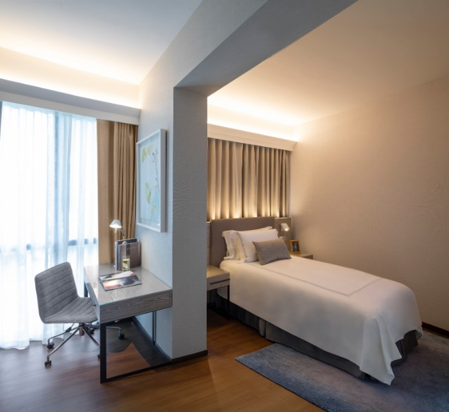 Single bed at Fraser Residence Orchard Apartments, Singapore