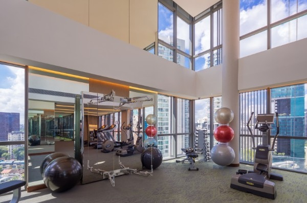 Gym area at Fraser Residence Orchard Apartments, Singapore