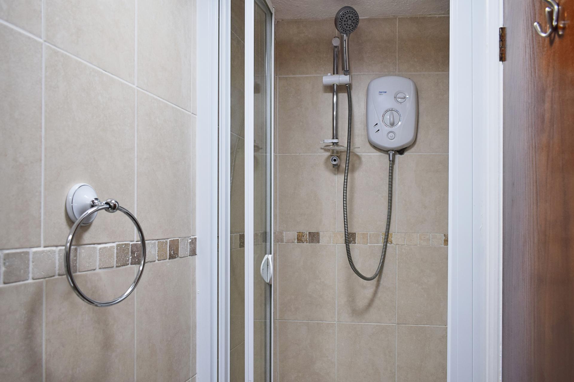 Shower at Market Street Studio Apartment