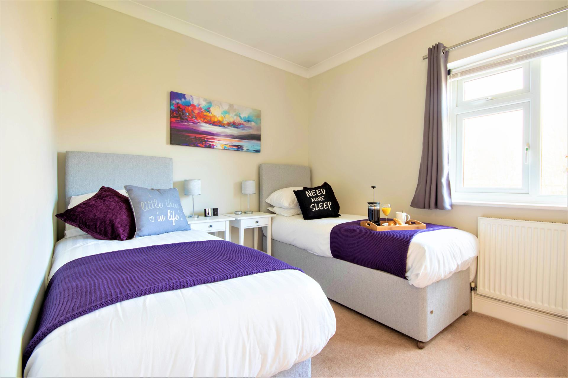 Zip and link beds at Spinney Apartment