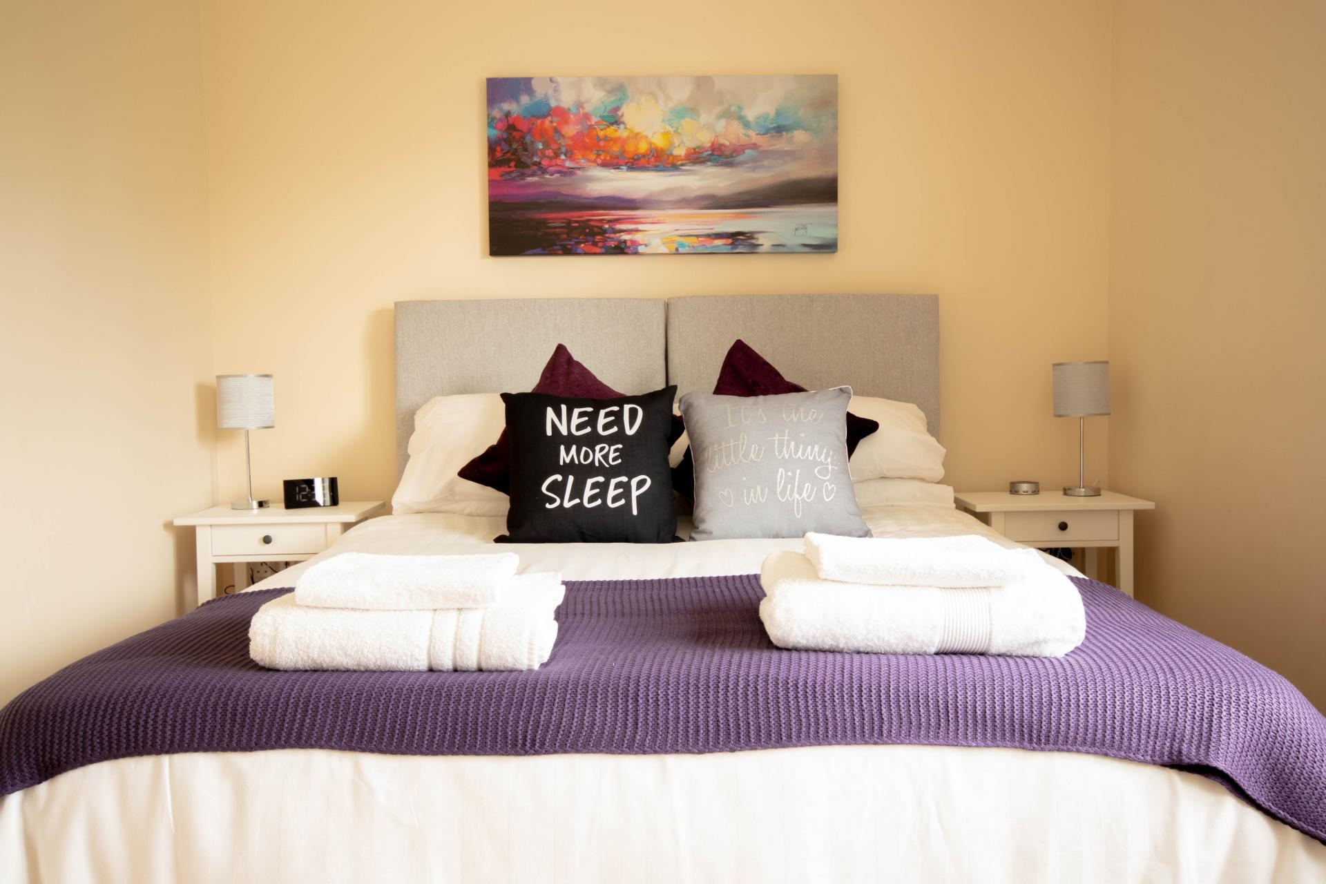 Bed at Spinney Apartment