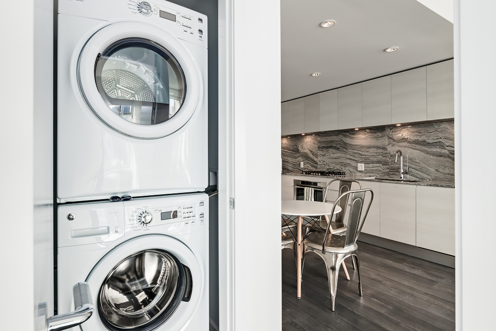Laundry facilities at Park Point Apartment