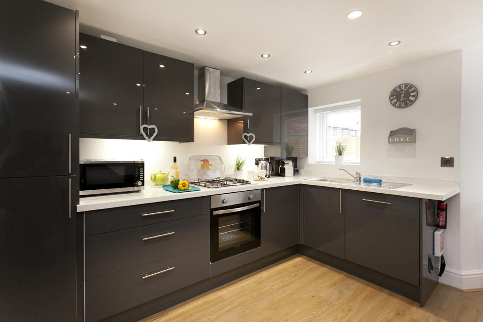 Modern kitchen at Bowling Green Apartments