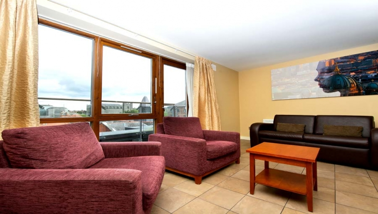Spacious living area in Staycity Dublin Saint Augustine Street
