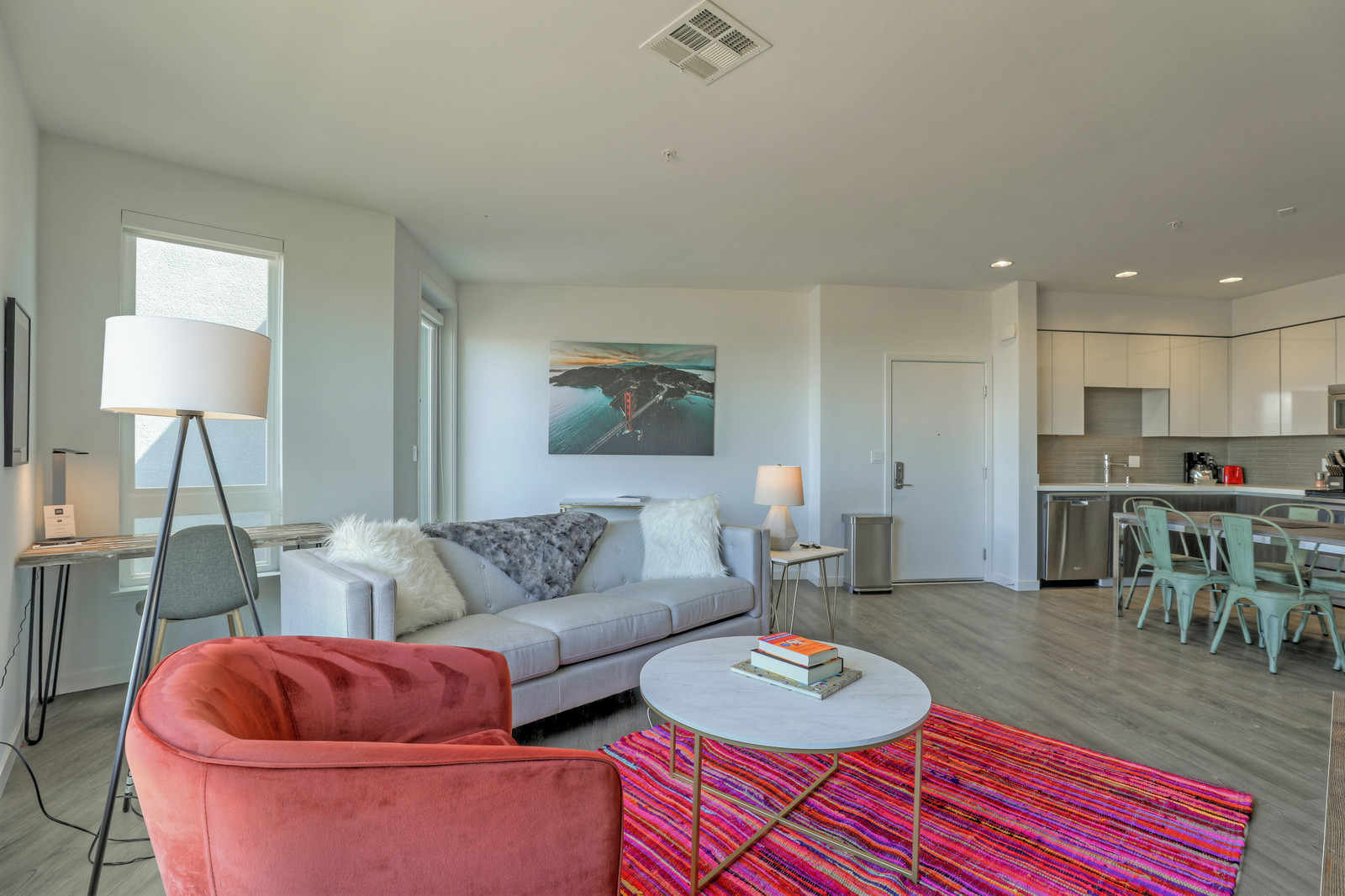 Living room at Aire Serviced Apartments