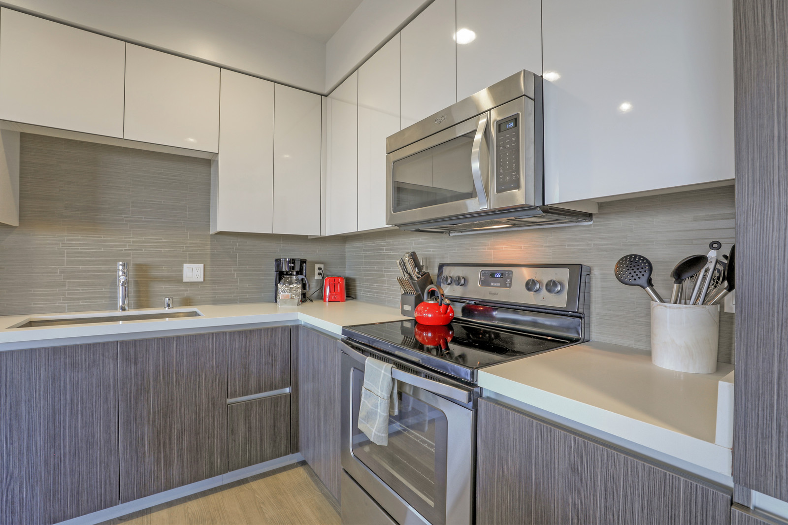 Stove at Aire Serviced Apartments