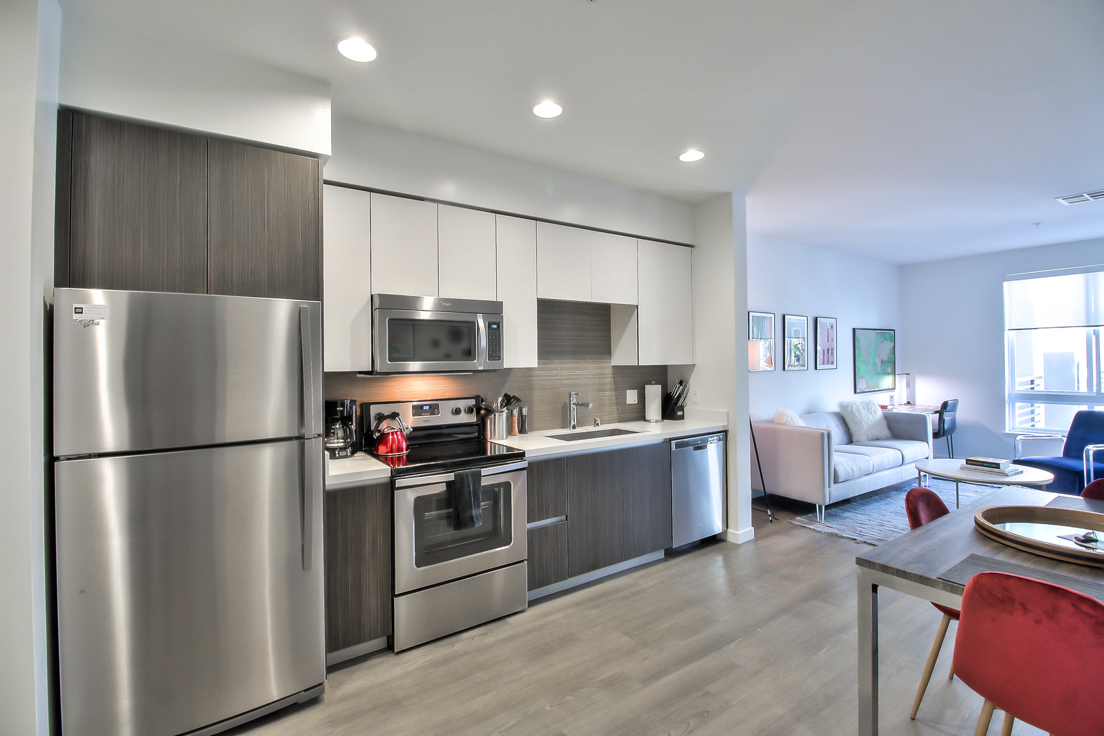Kitchen at Aire Serviced Apartments