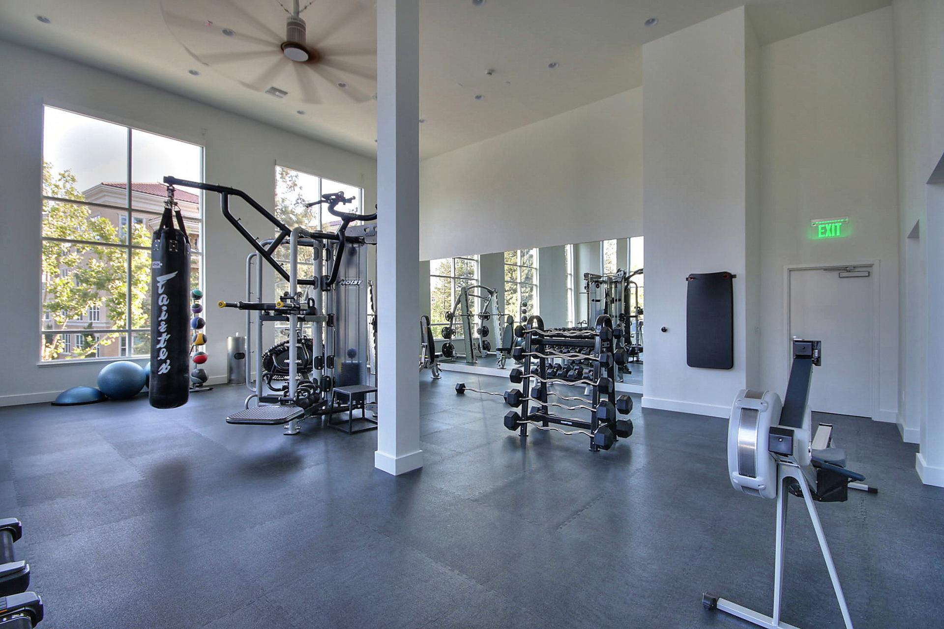 Gym at Aire Serviced Apartments