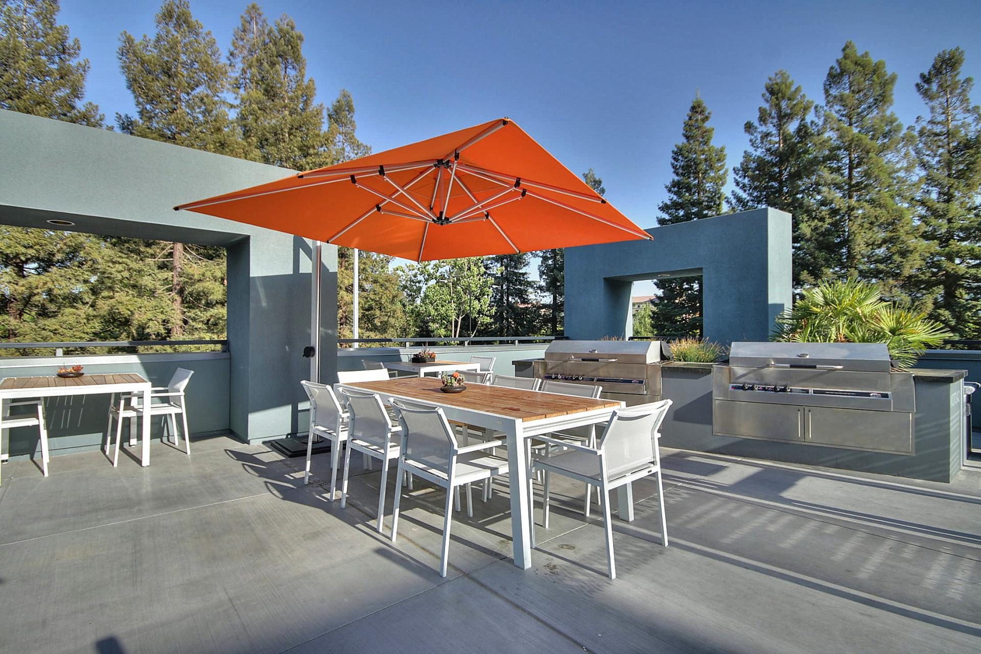 BBQ area at Aire Serviced Apartments
