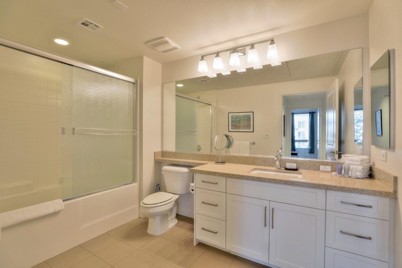 Bathroom at River View Apartment Homes