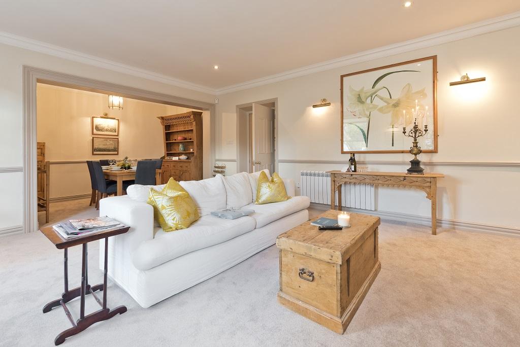Living area at Wellington Road Apartment