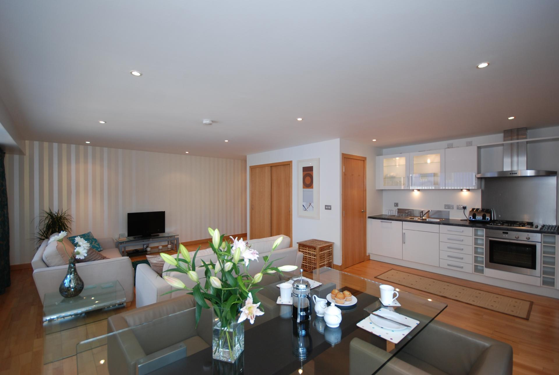 Open plan at Barony High Apartment