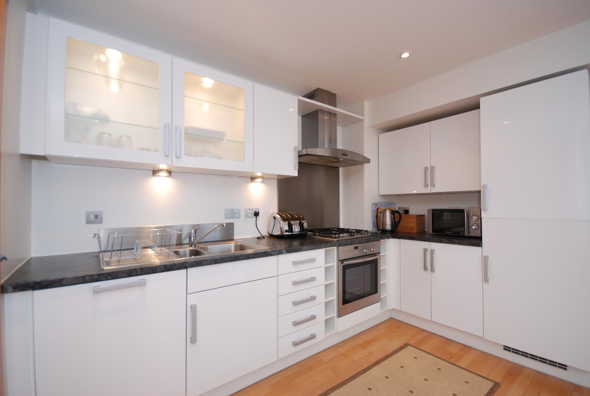 Kitchen at Barony High Apartment