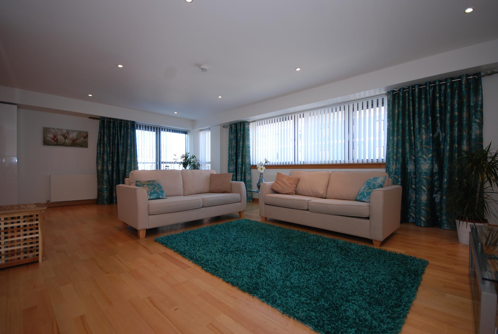 Living area at Barony High Apartment