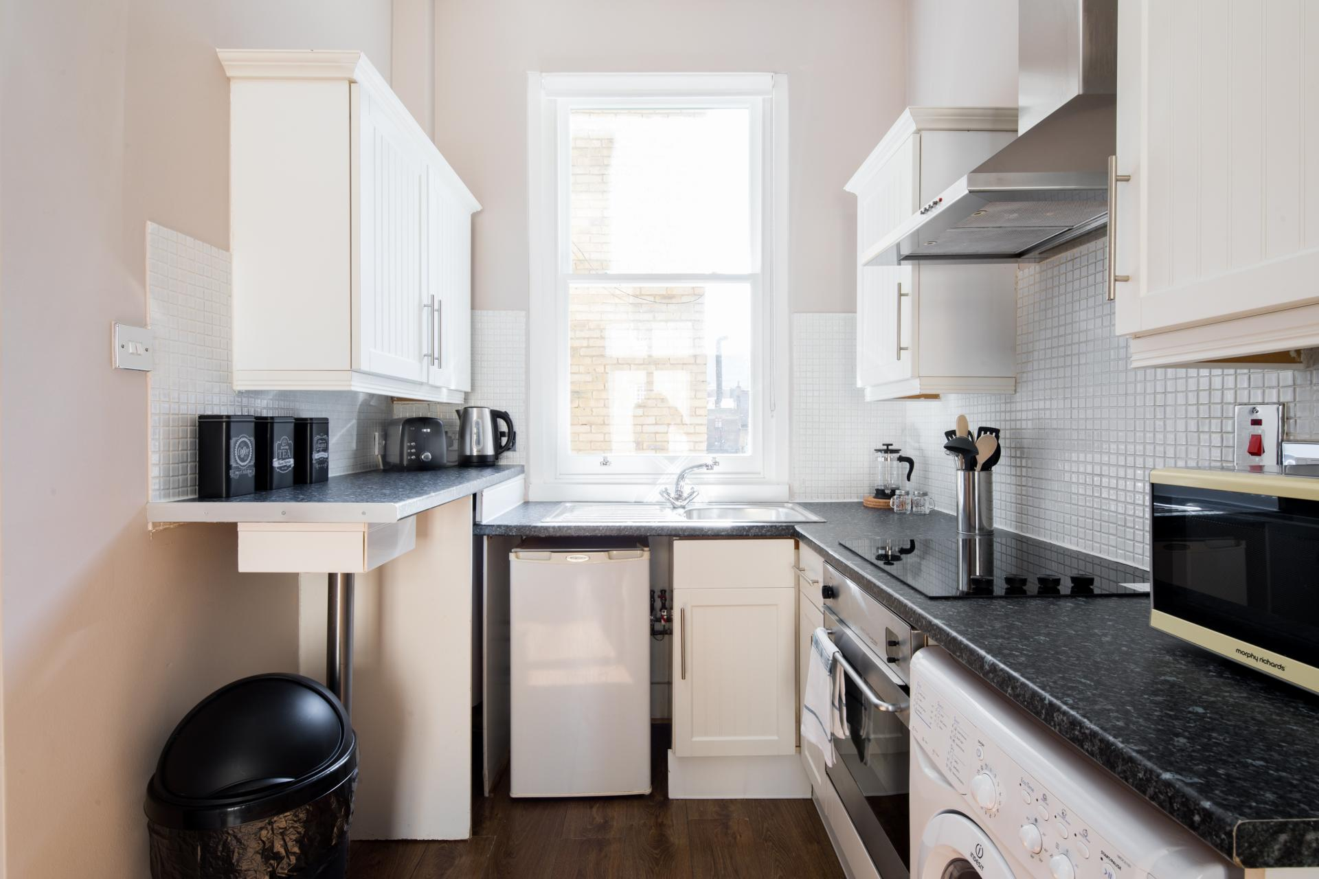 Bright kitchen at Whitecross Apartment