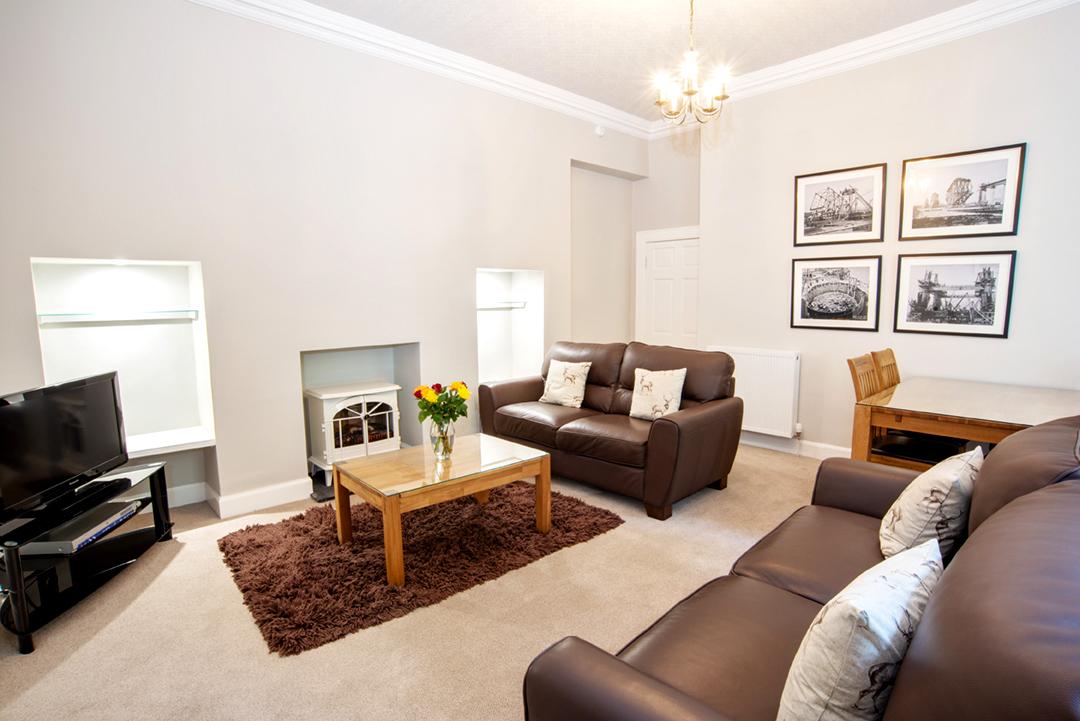 Lounge at Lomond Apartment, Crossgates, Dunfermline