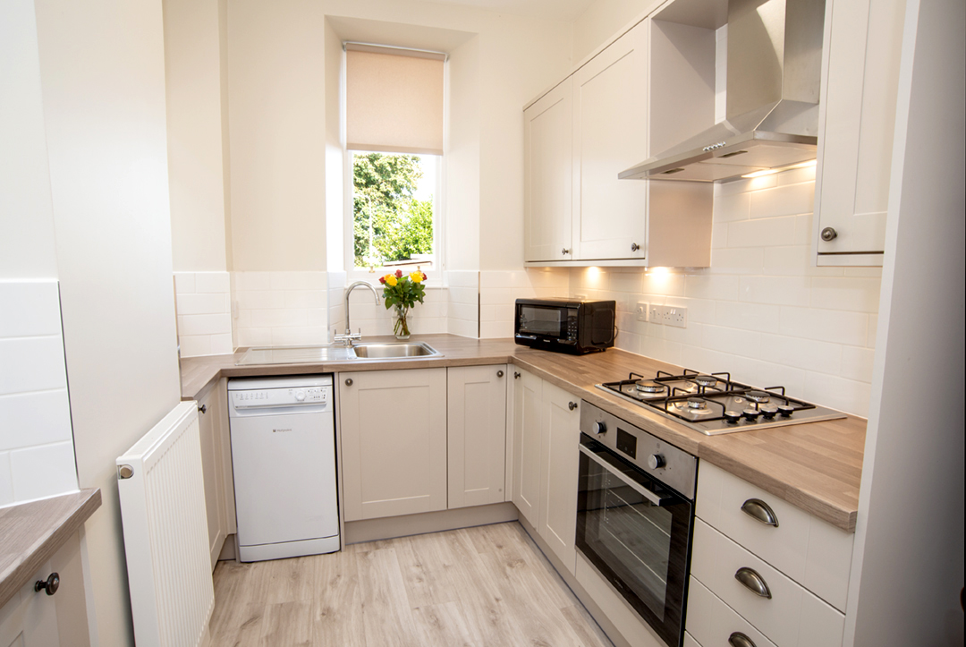 Kitchen at Lomond Apartment, Crossgates, Dunfermline