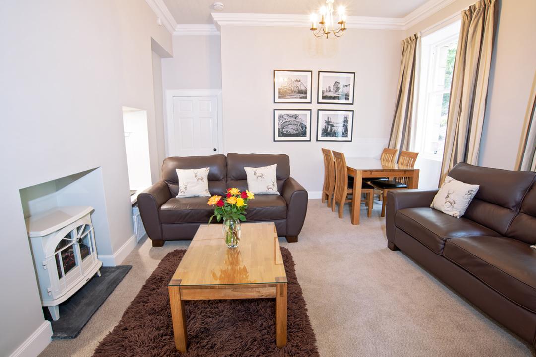Sofas at Lomond Apartment, Crossgates, Dunfermline