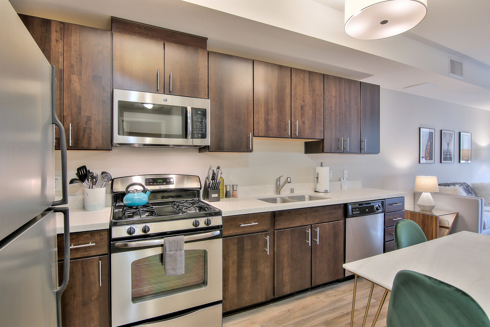 Kitchen at The Village Residences