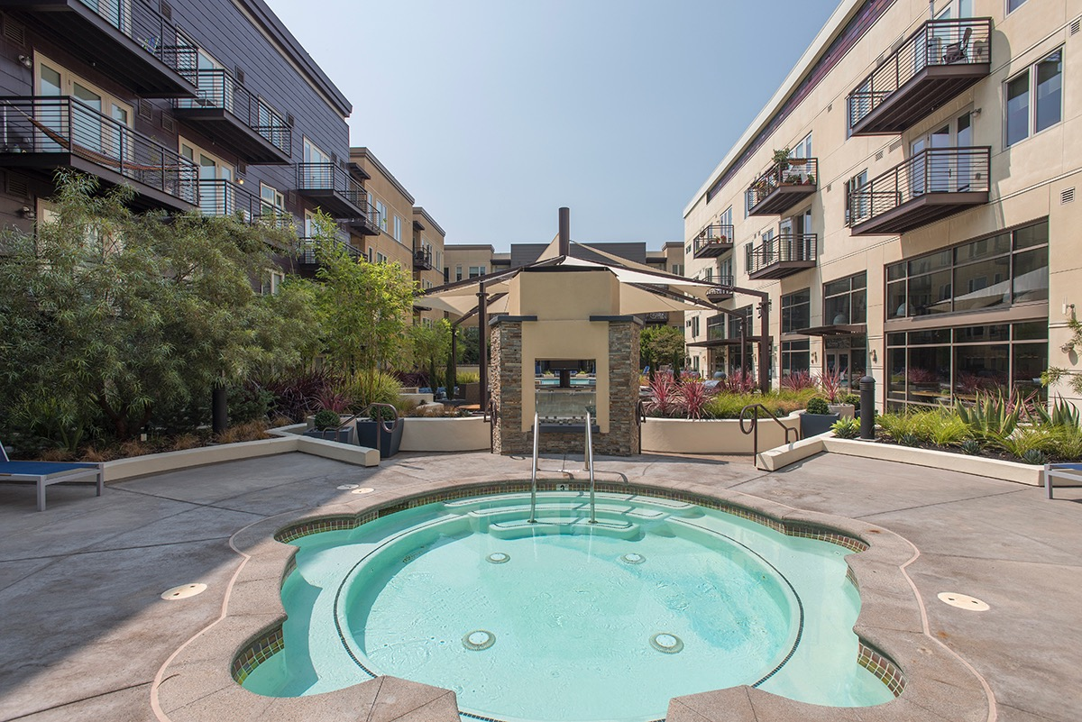 Jacuzzi at The Village Residences