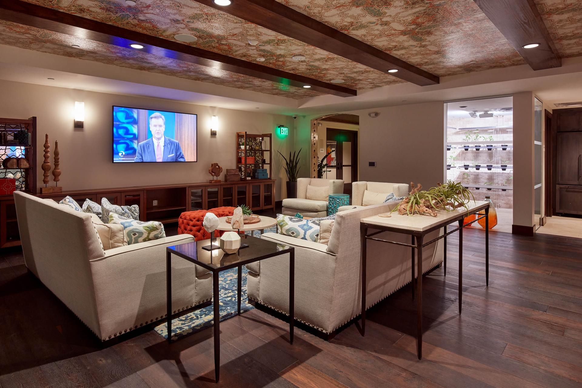 Residents lounge at Encasa Apartments