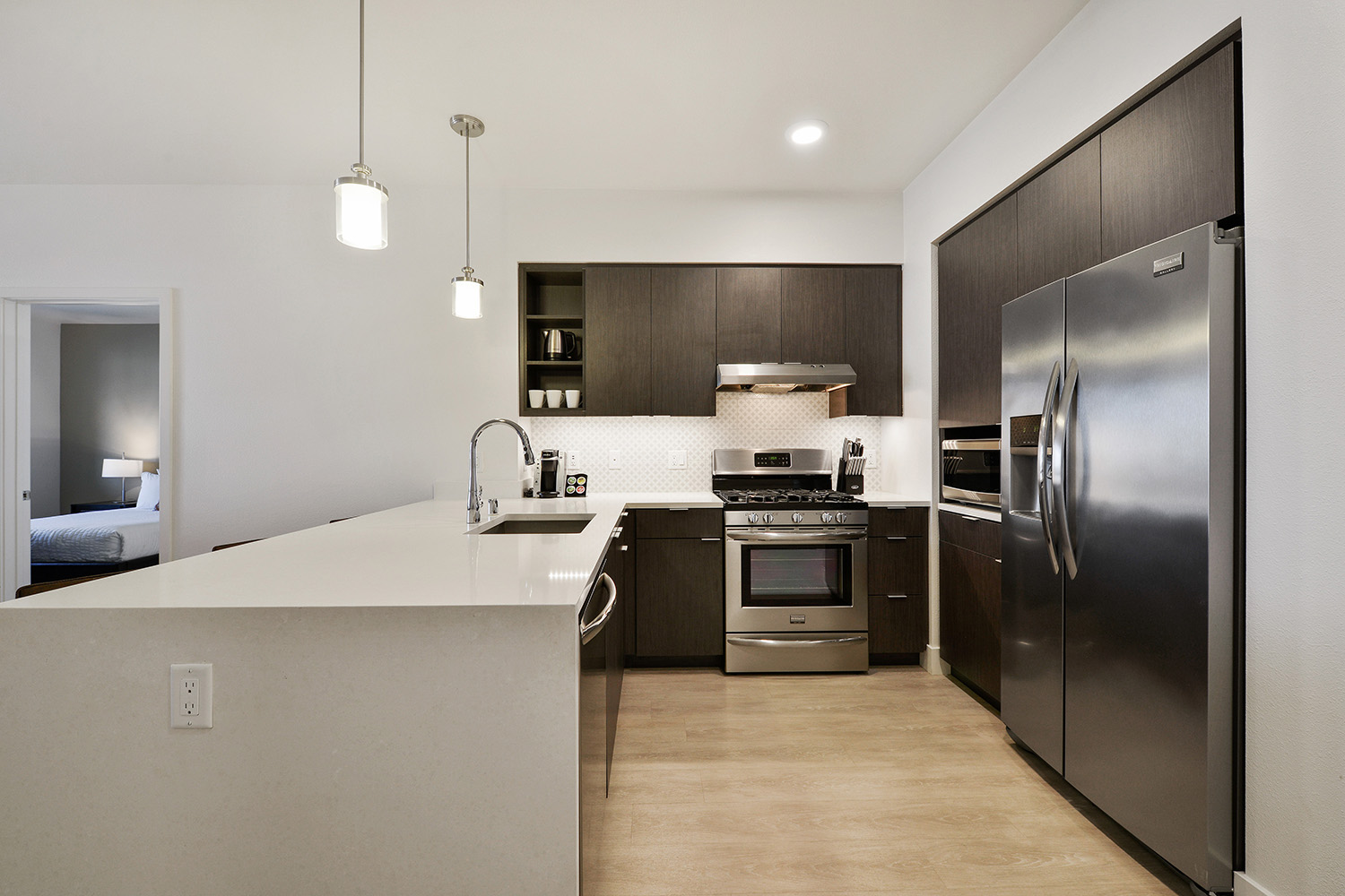 Kitchen at Encasa Apartments