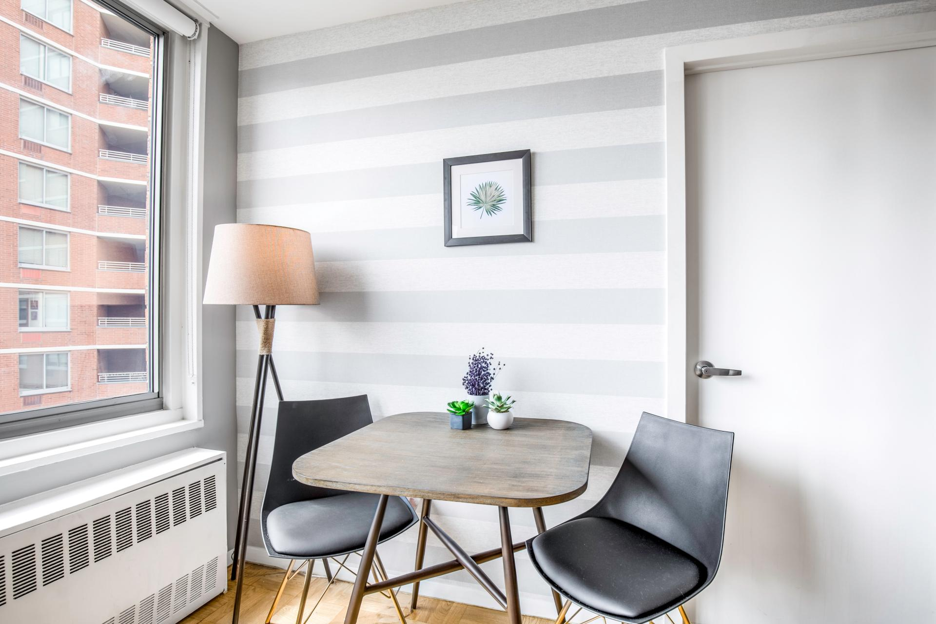 Dining table at Kips Bay Court III Apartment