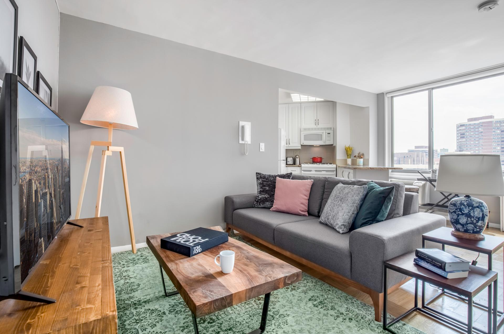 Living room at Kips Bay Court III Apartment