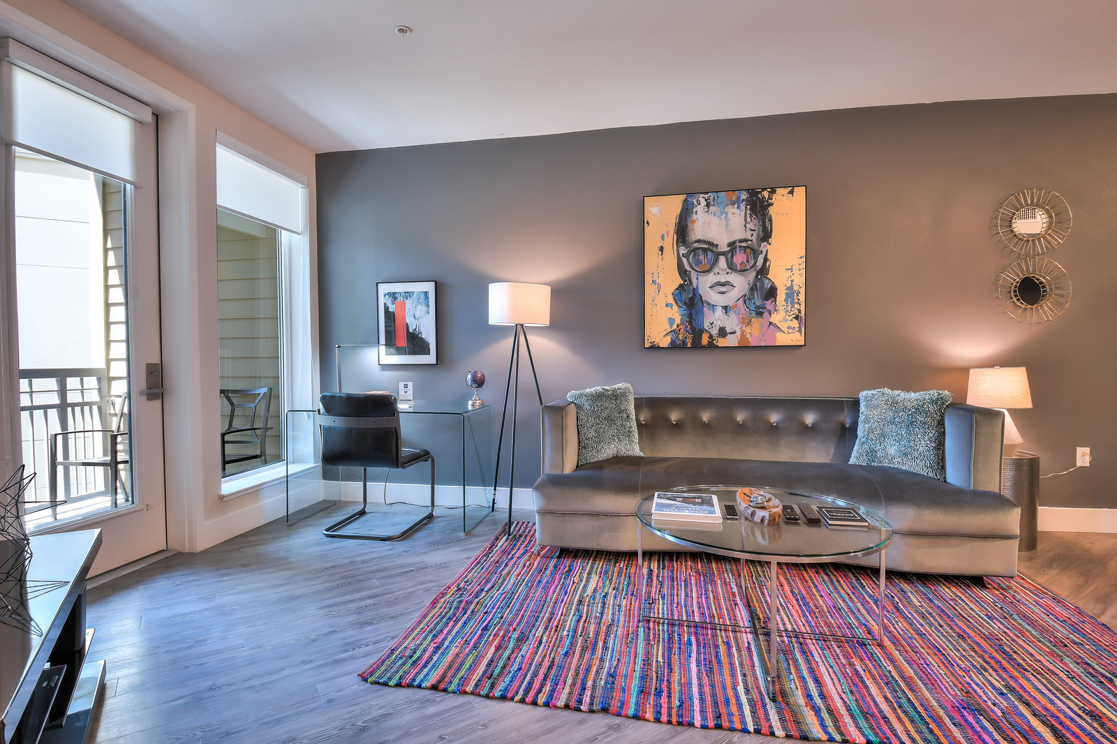 Stylish living area at Franklin 299 Apartments