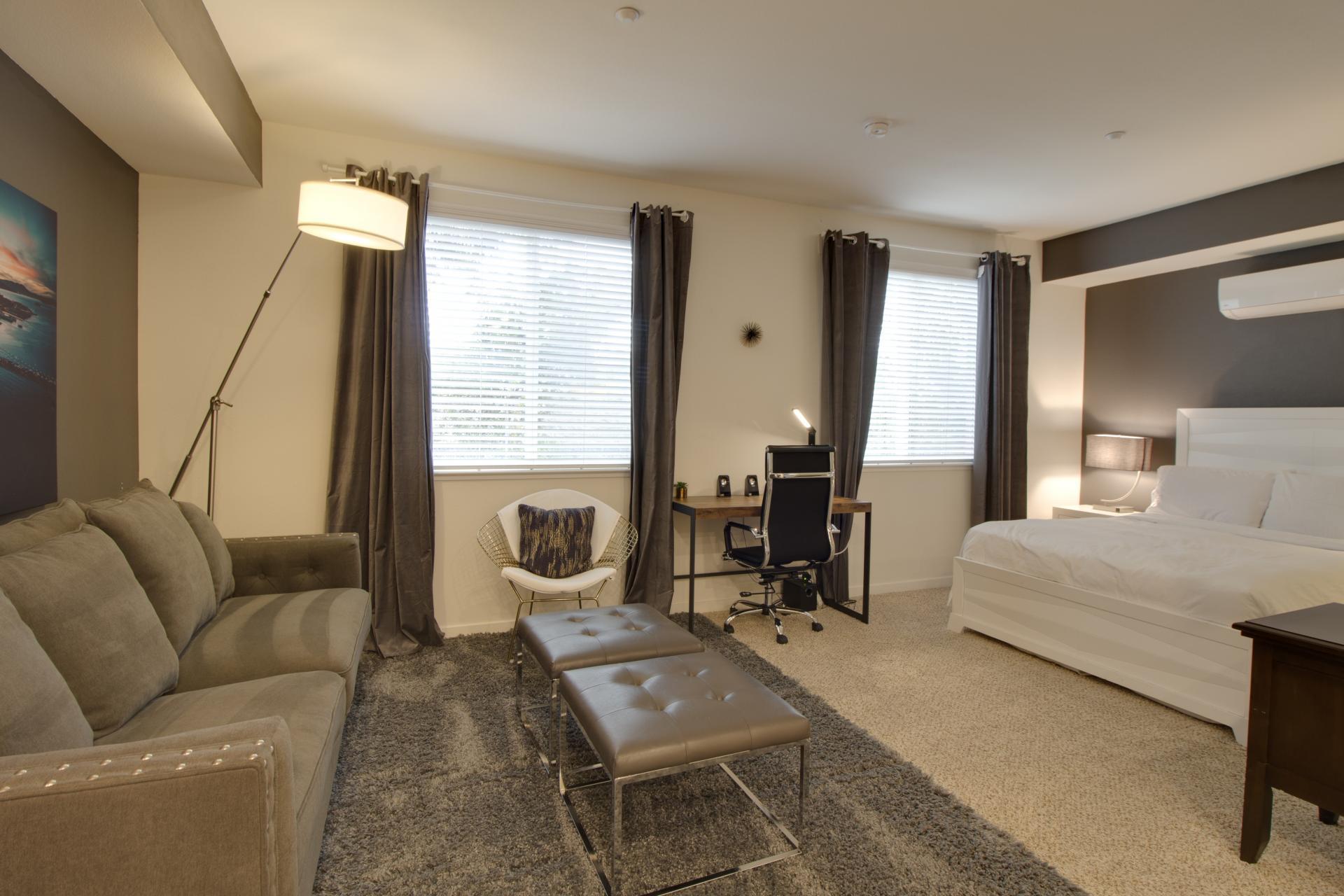 Cosy bedroom at Park20 Apartments