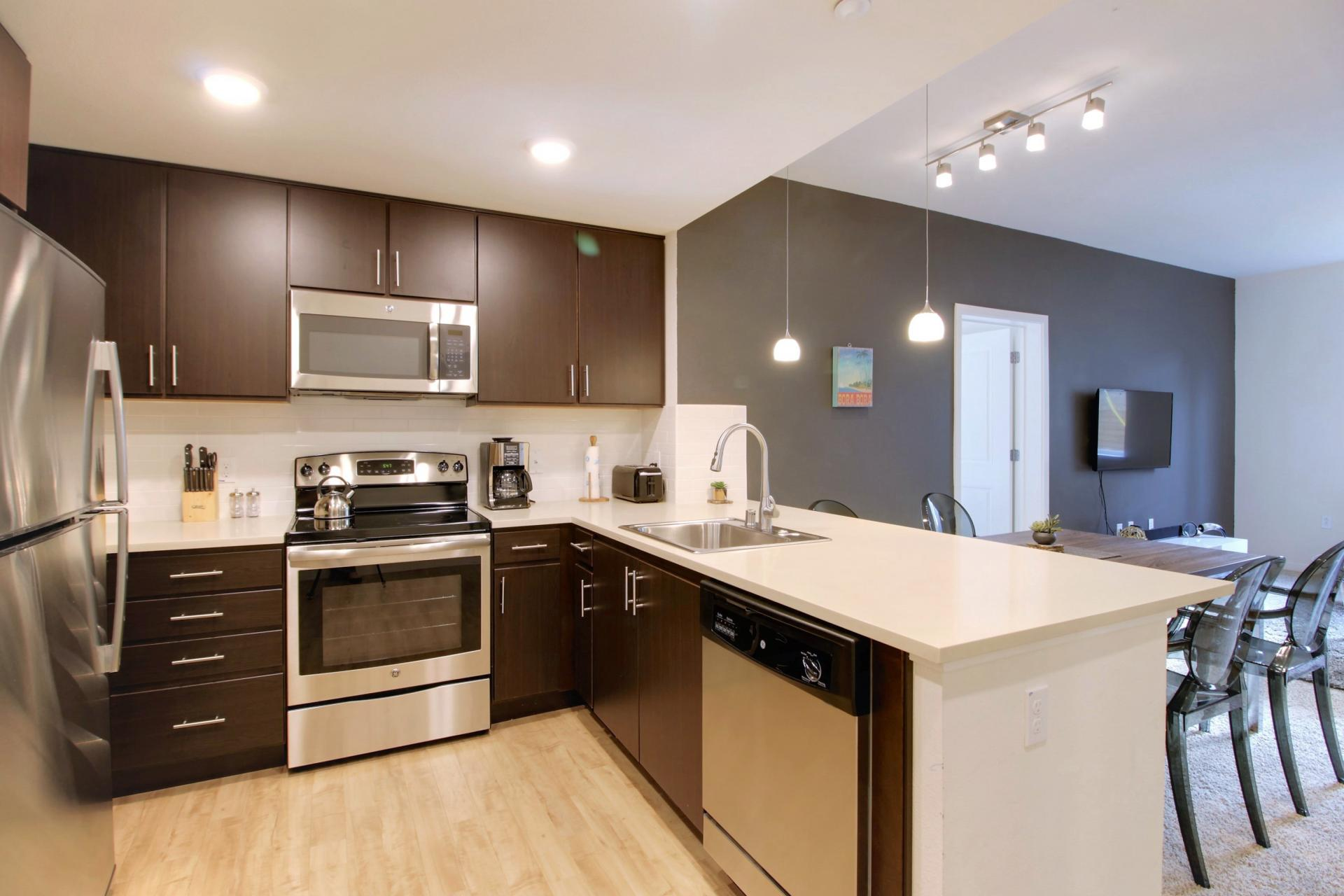 Kitchen at Park20 Apartments
