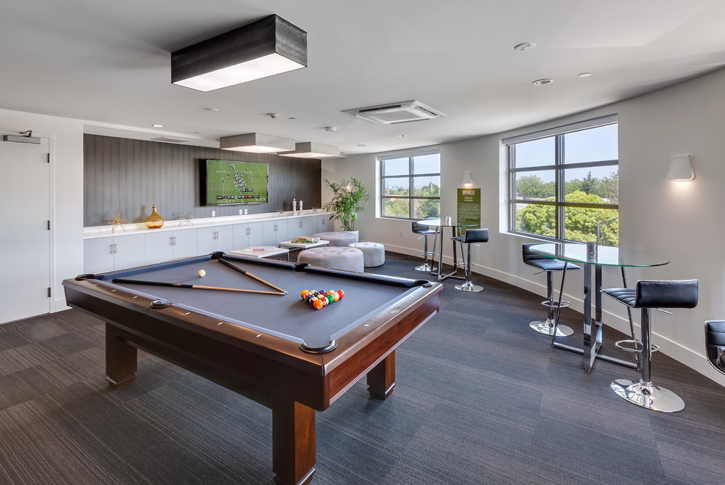 Pool table at Park20 Apartments