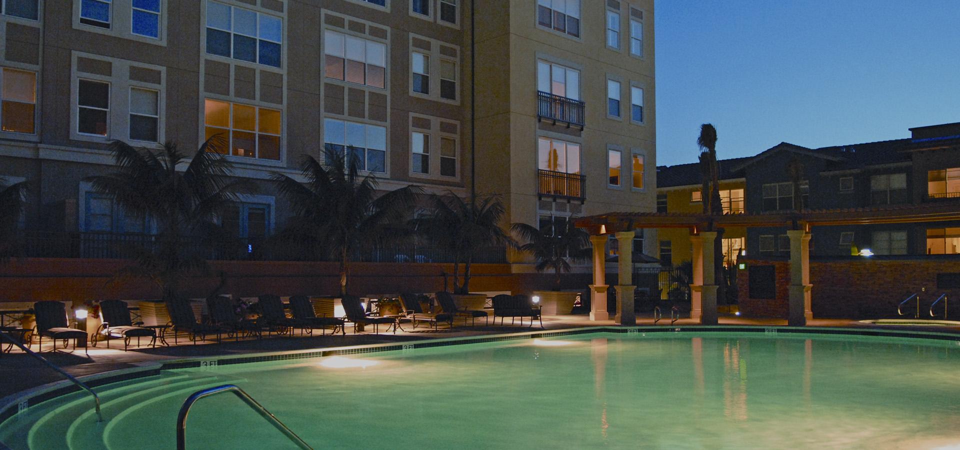 Pool at Santana Heights Apartments, The Villas, San Jose