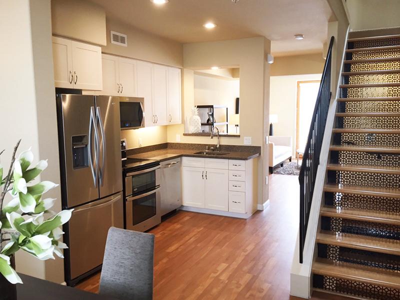 Kitchen at Santana Heights Apartments, The Villas, San Jose