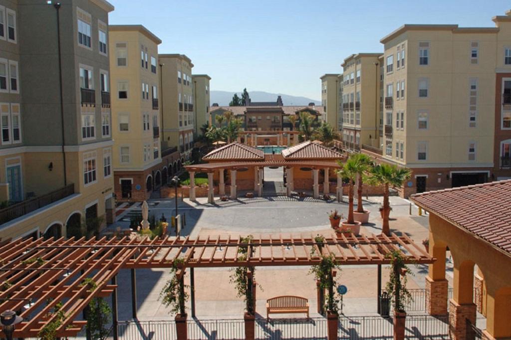 View from Santana Heights Apartments, The Villas, San Jose