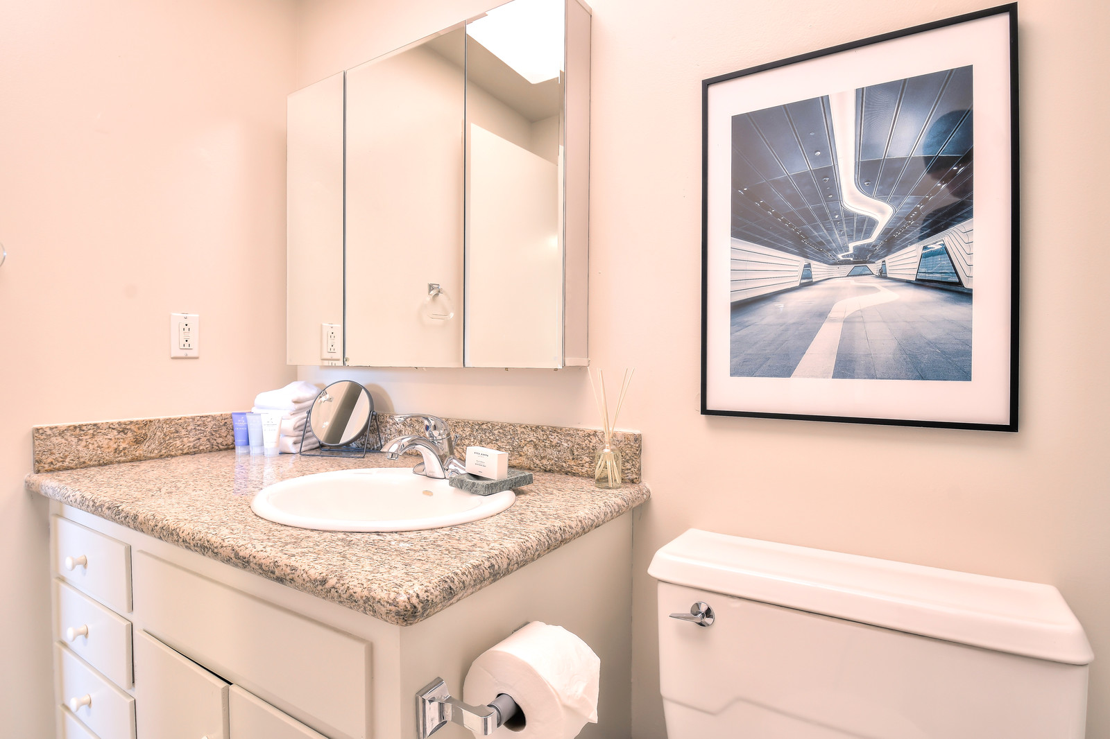 Clean bathroom at The Marc Serviced Apartments