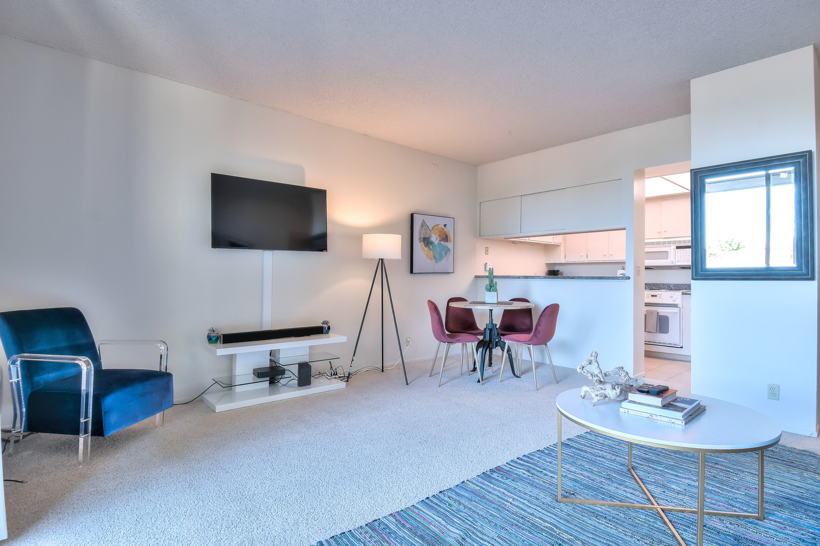 Spacious living area at The Marc Serviced Apartments