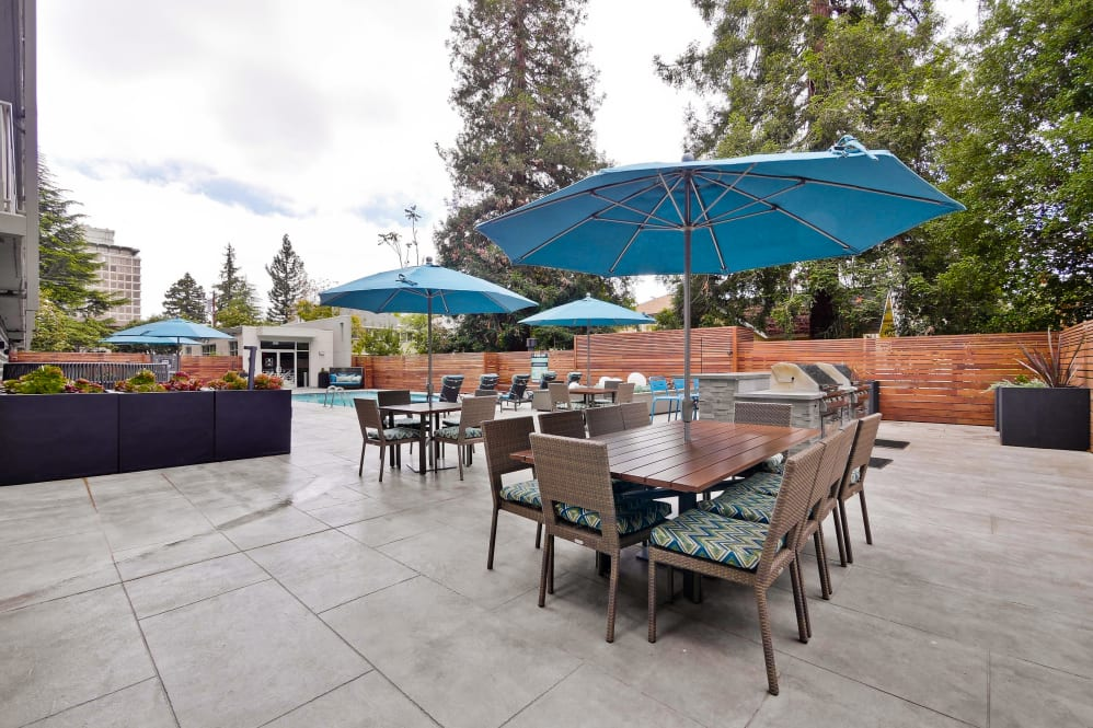 Terrace area at The Mia Serviced Apartments