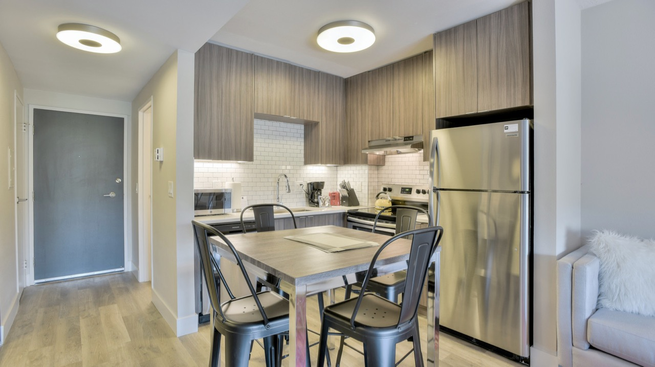Kitchen at The Mia Serviced Apartments