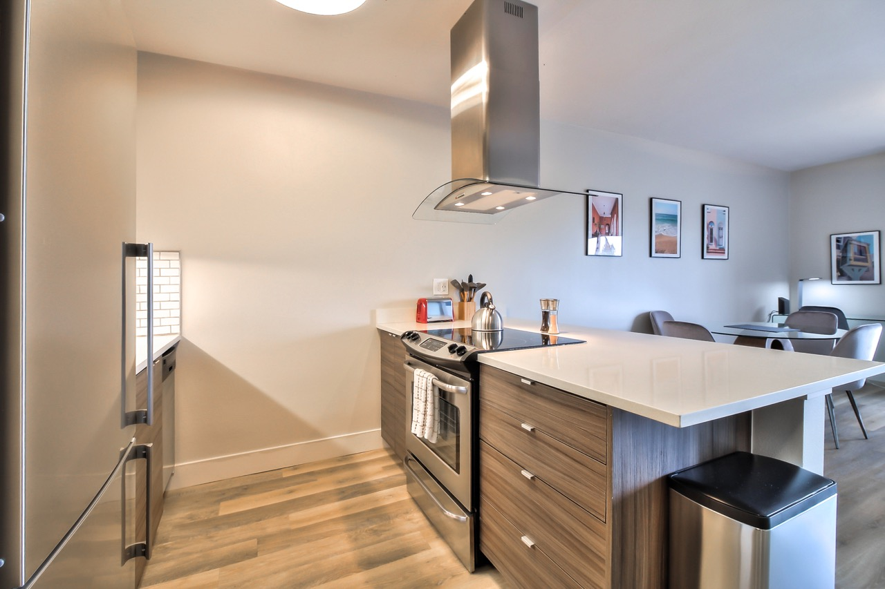 Modern kitchen at The Mia Serviced Apartments